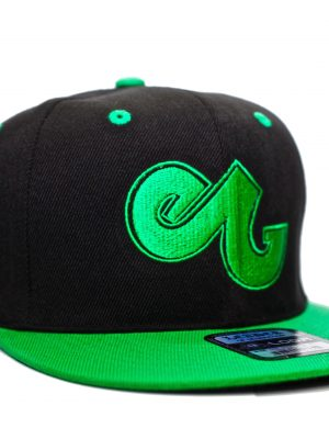 b7b7cdabdb9c7 Enabled Green Black Embroidered Snapback