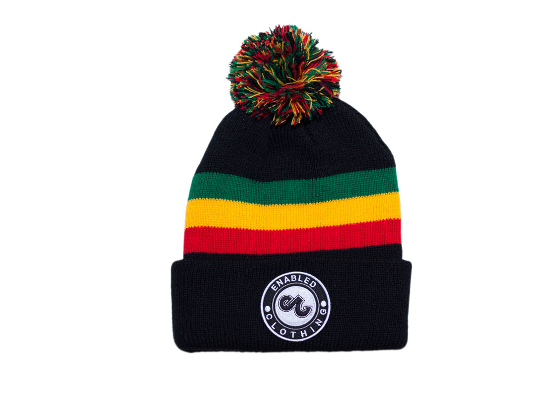 e171df152b423 Enabled Rasta Beanie - Enabled Clothing